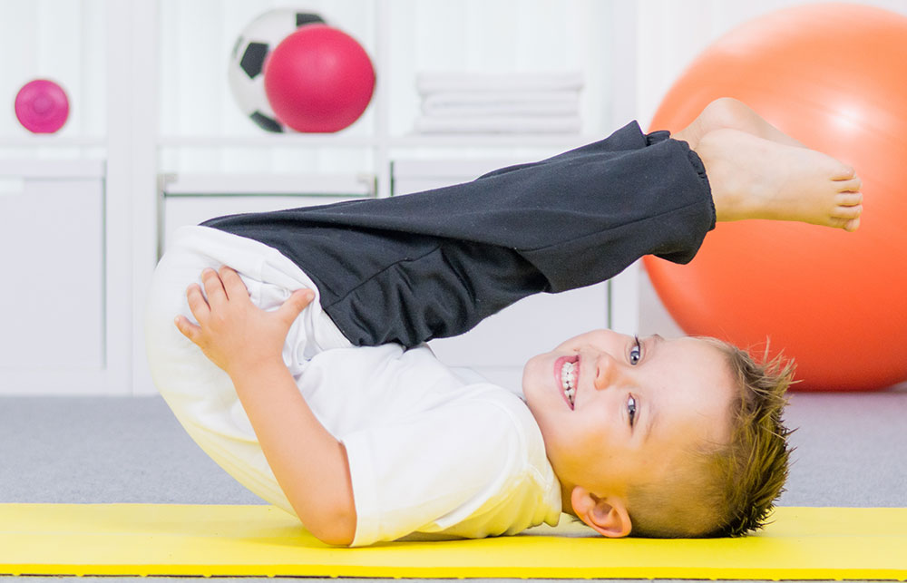 A Full-Sized Gym Keeps Them Active Indoors