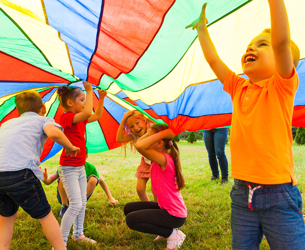 Activity-Filled Fun Outside Time With Their Friends